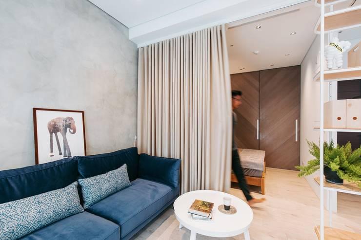 Petites chambres de style  par MSBT 幔室布緹, Scandinave Béton armé