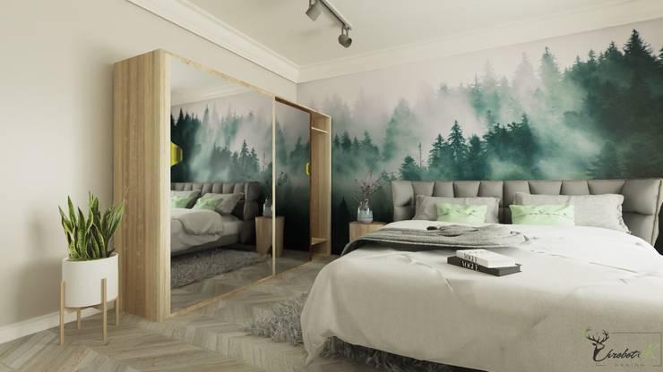 Chambre de style  par Chrobotek Design, Scandinave