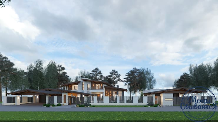 Maisons de style  par Компания архитекторов Латышевых 'Мечты сбываются', Éclectique