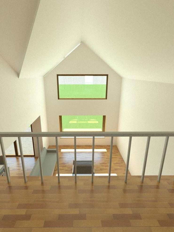 Casa  habitPuerto Varas: Balcón de estilo  por Soc. Constructora Cavent Spa,