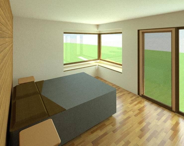 Casa  habitPuerto Varas: Dormitorios de estilo  por Soc. Constructora Cavent Spa,