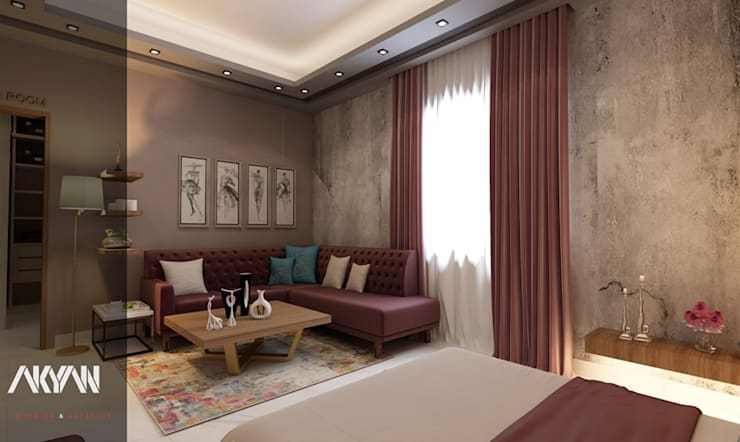 Kashmir bedroom:  تصميم مساحات داخلية تنفيذ AKYAN,