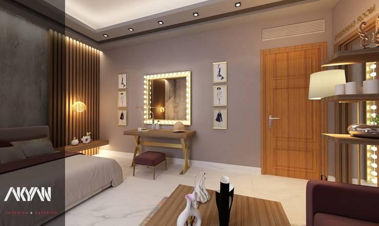 Kashmir bedroom :  تصميم مساحات داخلية تنفيذ AKYAN,