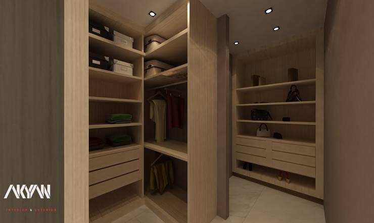 غرفة باللون الكاشميري :  تصميم مساحات داخلية تنفيذ AKYAN,