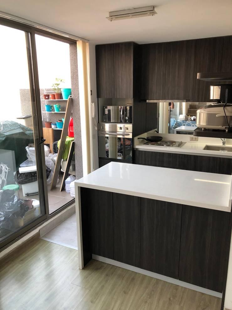 Cocinas pequeñas de estilo  por balConcept SpA , Moderno Cuarzo