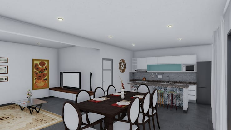 餐廳 by ARBOL Arquitectos , 殖民地風