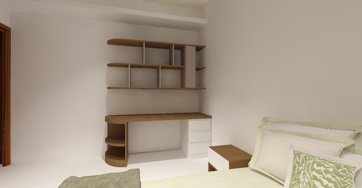 3D設計圖-4F房間:   by 圓方空間設計,