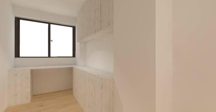 3D設計圖-2F房間:   by 圓方空間設計,