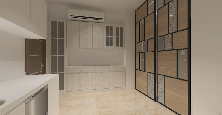 3D設計圖-廚房:   by 圓方空間設計,