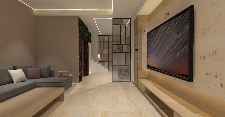 3D設計圖-客廳(2):   by 圓方空間設計,
