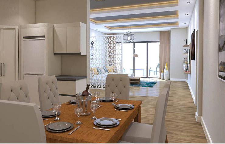 Modern dining room by KALYA İÇ MİMARLIK \ KALYA INTERIOR DESIGN Modern Wood Wood effect