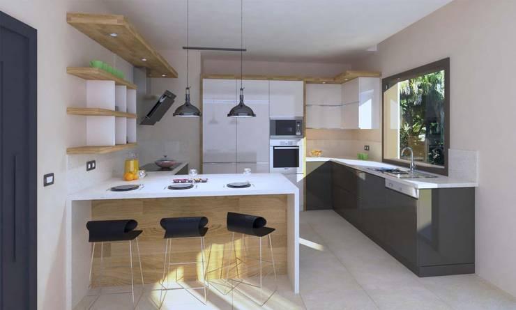 por KALYA İÇ MİMARLIK \ KALYA INTERIOR DESIGN Moderno Madeira Efeito de madeira