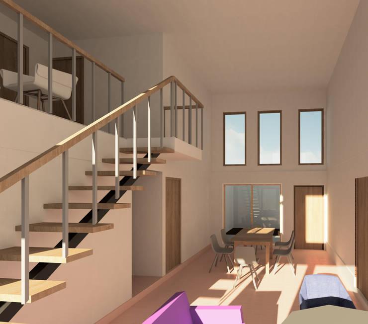 Phòng khách theo Contreras Arquitecto, Tối giản