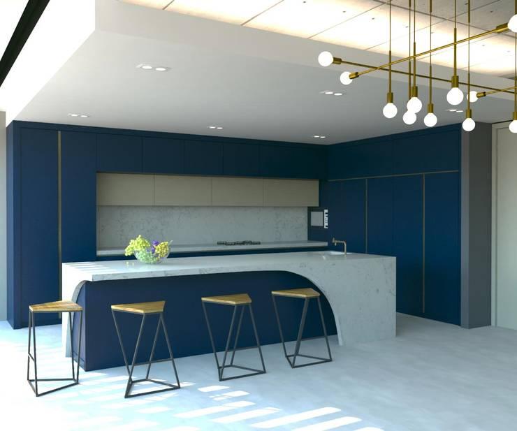 Dapur built in oleh KALYA İÇ MİMARLIK \ KALYA INTERIOR DESIGN, Modern Kayu Wood effect