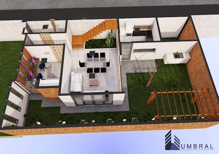 ISMETRIA 1RA PLANTA: Casas de estilo  por Umbral arquitectura y construccion,