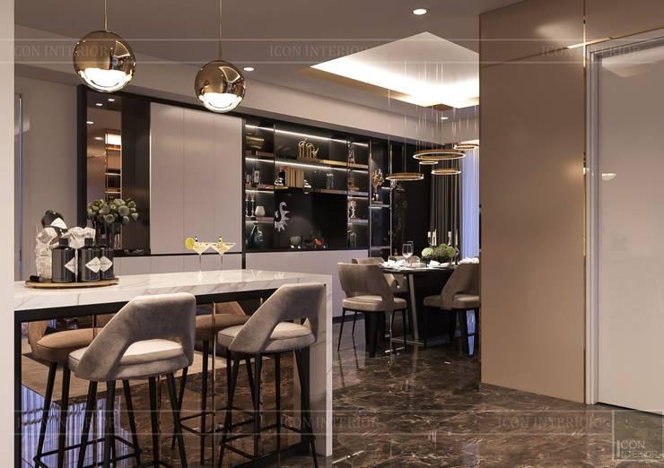Phong cách hiện đại trong thiết kế nội thất căn hộ Saigon Royal:  Nhà bếp by ICON INTERIOR,