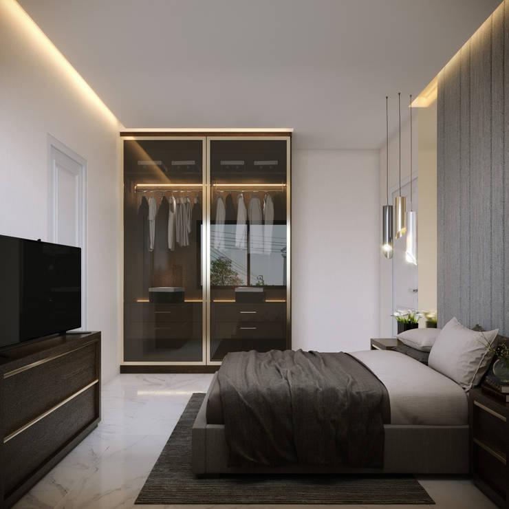 ตกแต่งภายใน บ้านเดี่ยวสองชั้น หมู่บ้าน grandio by land and house:  ตกแต่งภายใน โดย Glam interior- architect co.,ltd,