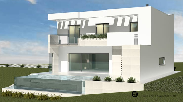 Pool by ATELIER OPEN ® - Arquitetura e Engenharia, Minimalist Ceramic