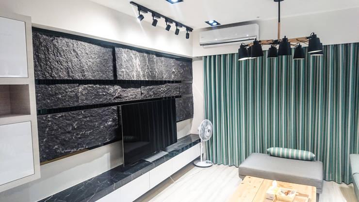 現代風格&風水客廳:  客廳 by 大吉利室內裝修設計工程有限公司,