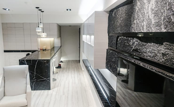 客餐廳設計動線及風水規劃:  客廳 by 大吉利室內裝修設計工程有限公司,