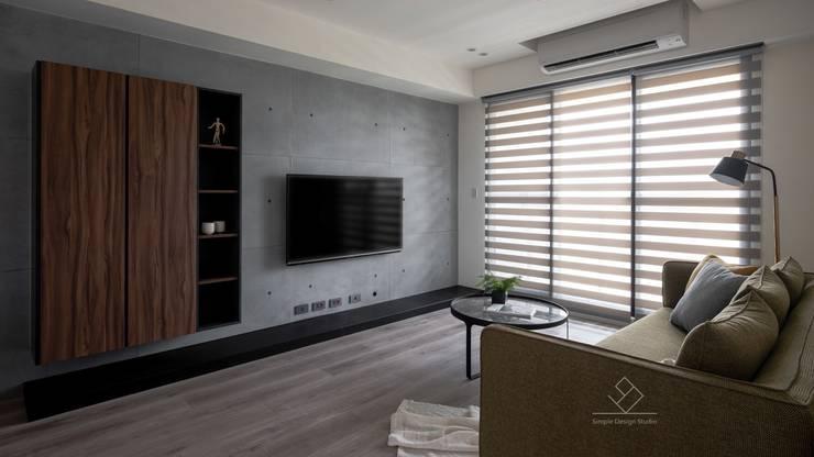 Salones de estilo  de 極簡室內設計 Simple Design Studio, Moderno