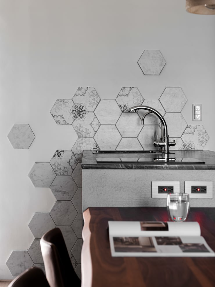 Comedores de estilo  de 極簡室內設計 Simple Design Studio, Moderno