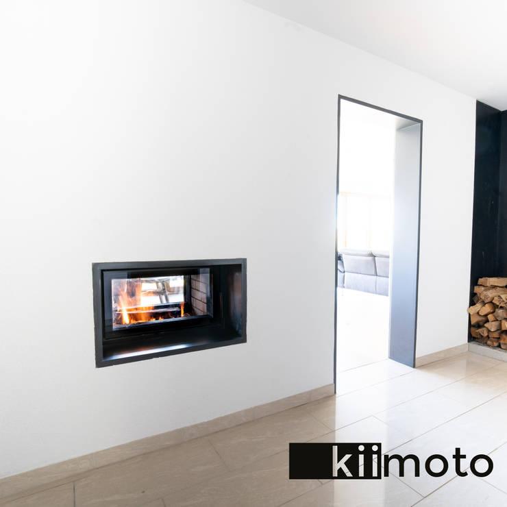Pasillos y vestíbulos de estilo  de kiimoto kamine, Moderno Hormigón reforzado