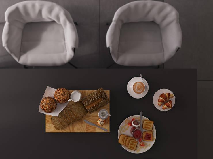 Functional Black || Сочи, ЖК <q>Сокол</q>: Столовые комнаты в . Автор – VICMA-design, Модерн