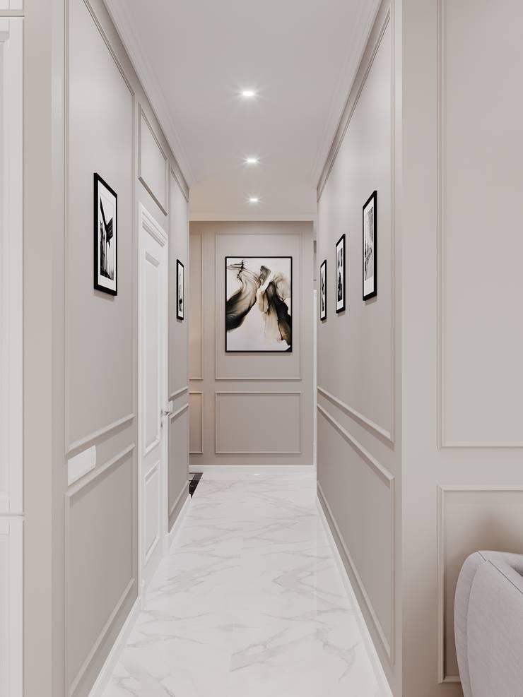 Pasillos, vestíbulos y escaleras de estilo clásico de AUSTI Clásico Tablero DM