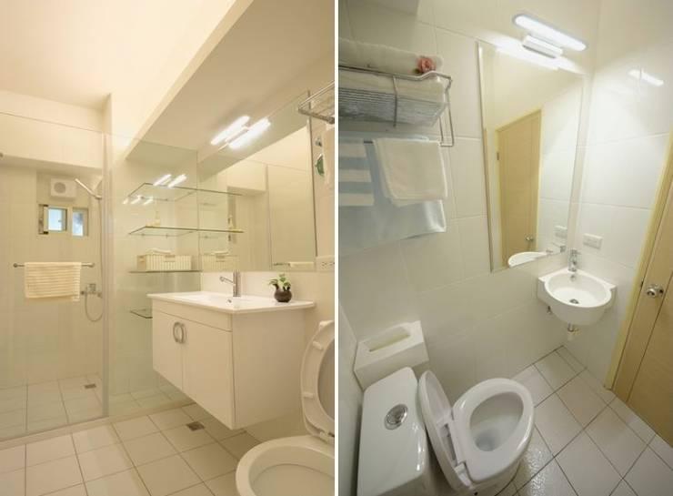 間接照明衛浴室:  浴室 by 大觀創境空間設計事務所,