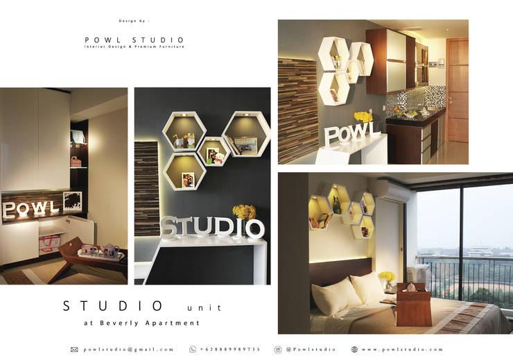 Beverly Honeycomb Tipe Studio Apartment:  oleh POWL Studio,