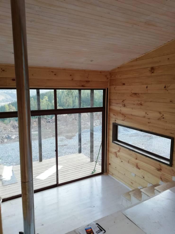 Casa Las Yuntas de Buchupureo : Livings de estilo  por MMS Arquitectos,