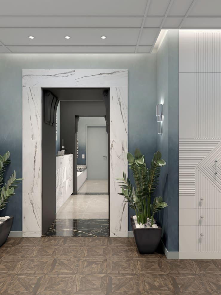 Classic style corridor, hallway and stairs by Wide Design Group Classic