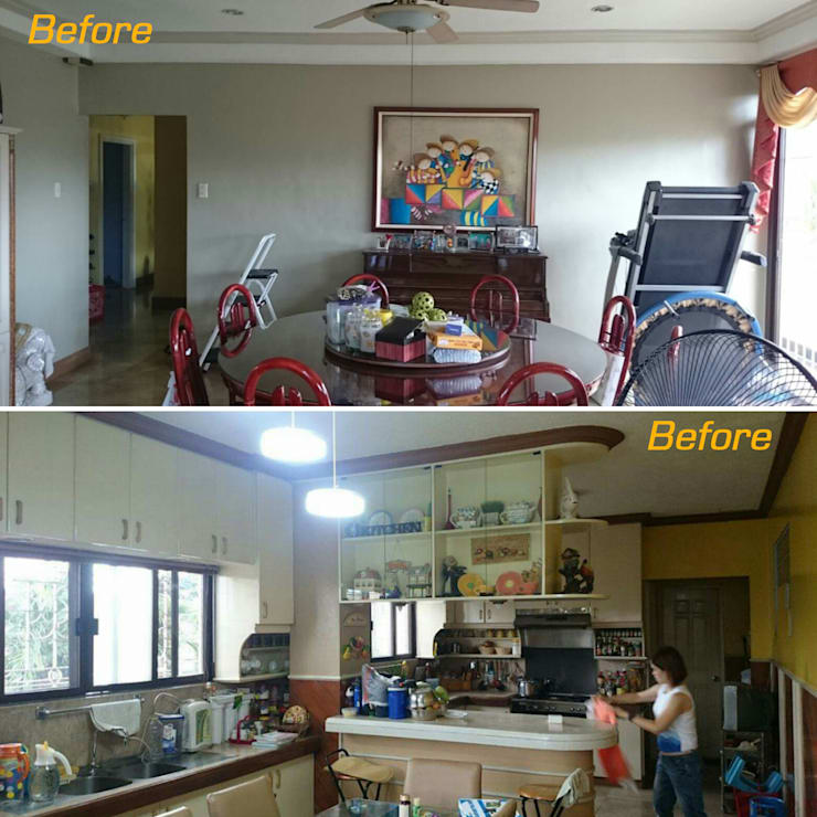 Before photos of dining and kitchen:   by Jeff See Architects,
