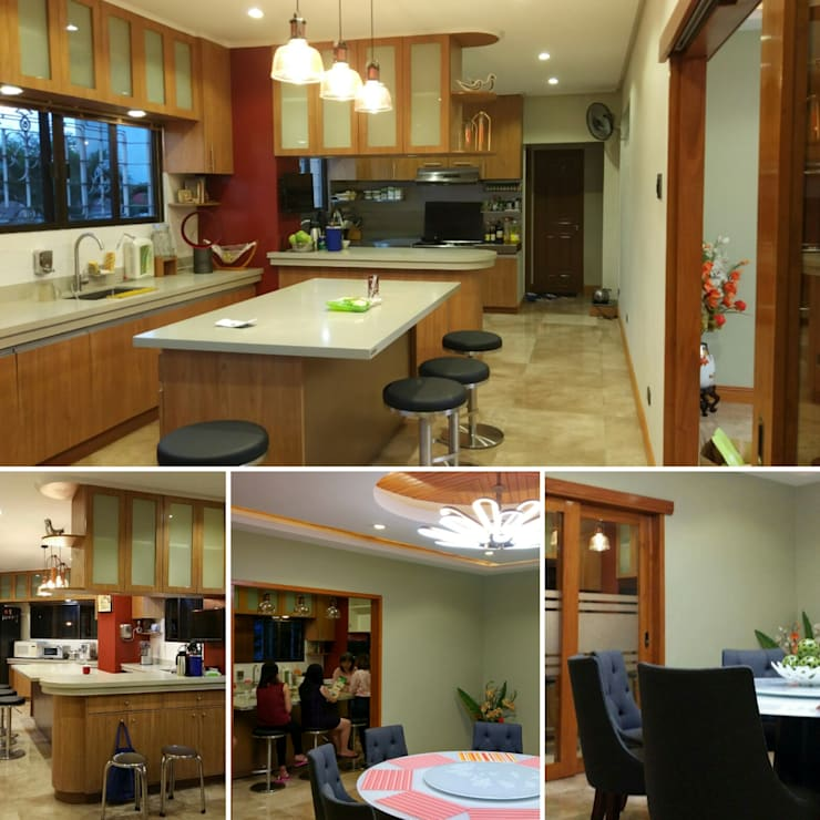 After photos of dining and kitchen:   by Jeff See Architects,
