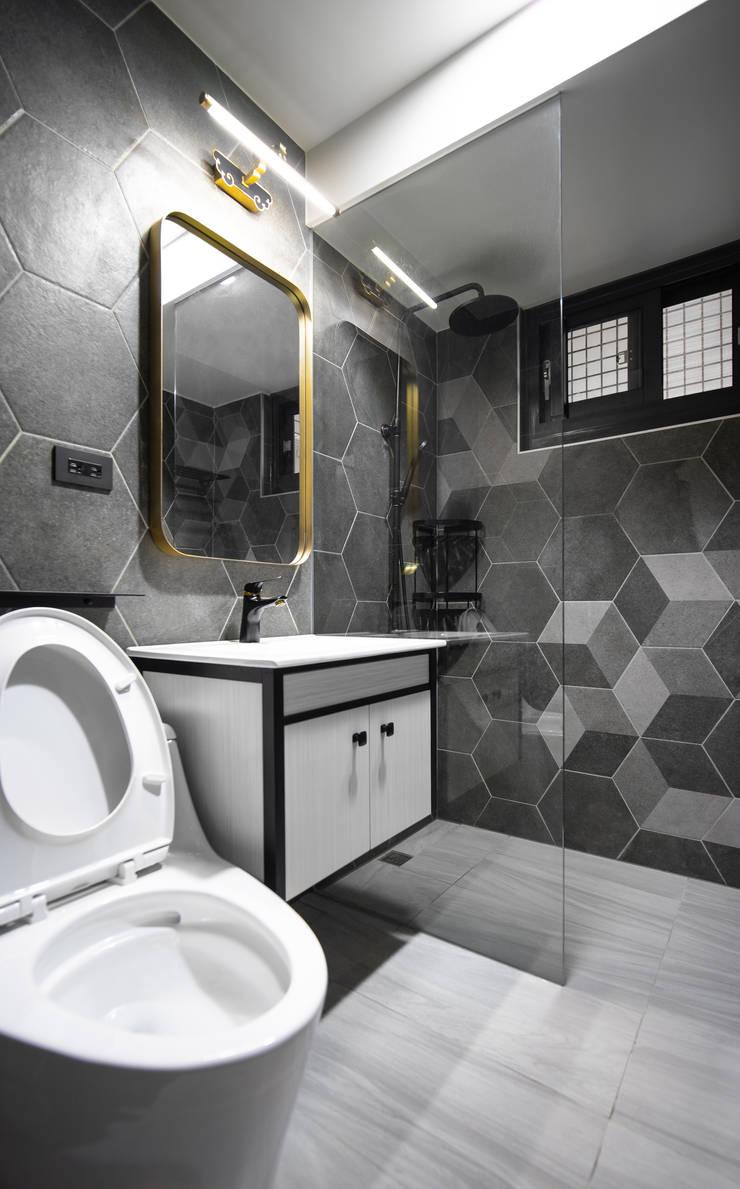 Dr. Liao 浴室裝修案   裝修後:  浴室 by 有隅空間規劃所,