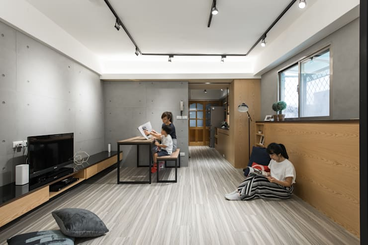 客廳:  飯店 by 你你空間設計,