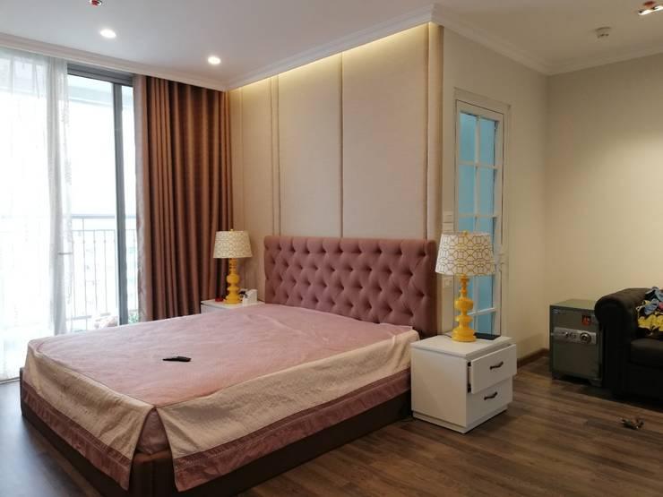 Thi công nội thất chung cư giá rẻ Hà Nội:  Bedroom by NỘI THẤT XLINE,