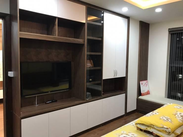 Thi công nội thất chung cư giá rẻ Hà Nội:  Dining room by NỘI THẤT XLINE,