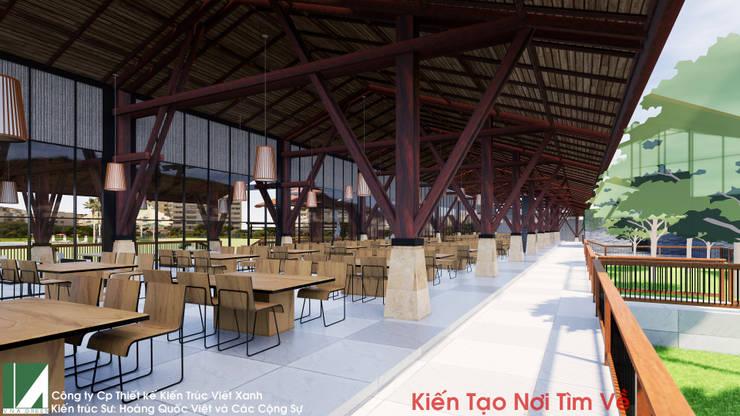 NHÀ HÀNG 1 TẦNG KHU NGHỈ DƯỠNG:   by công ty cổ phần Thiết kế Kiến trúc Việt Xanh,