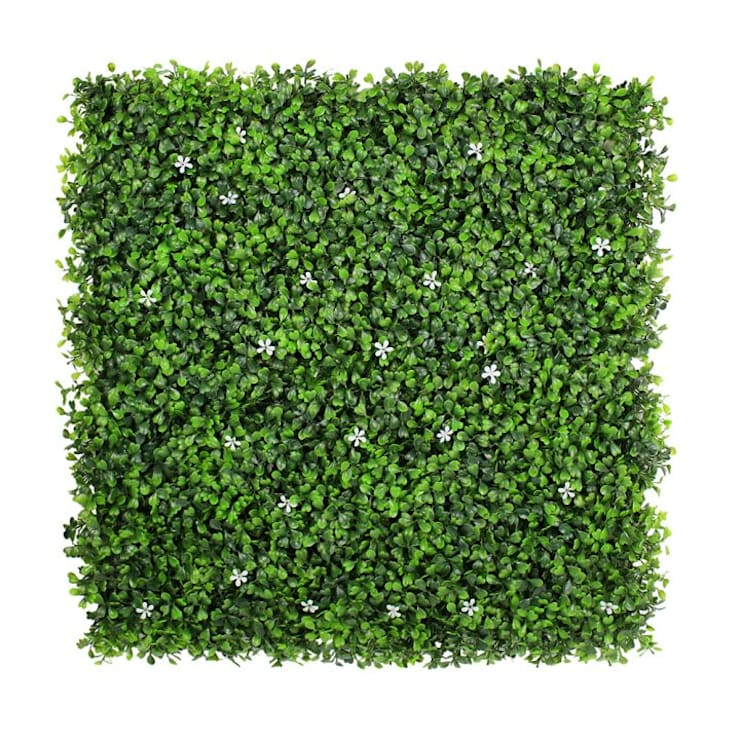 Uland Faux Boxwood Mat with Flowers A036:  Walls & flooring by Ulandhedge,