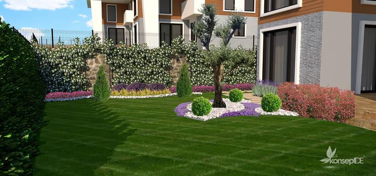 konseptDE Peyzaj Fidancılık Tic. Ltd. Şti. – M.A ÖZEL KONUT Peyzaj Projelendirme & Uygulama:  tarz Bahçe,