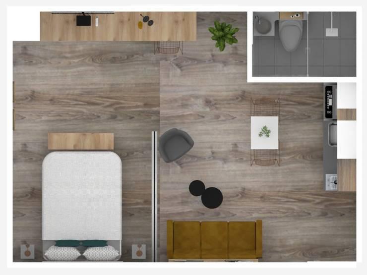 Planta general Aparta hotel :  de estilo  por Decó ambientes a la medida,