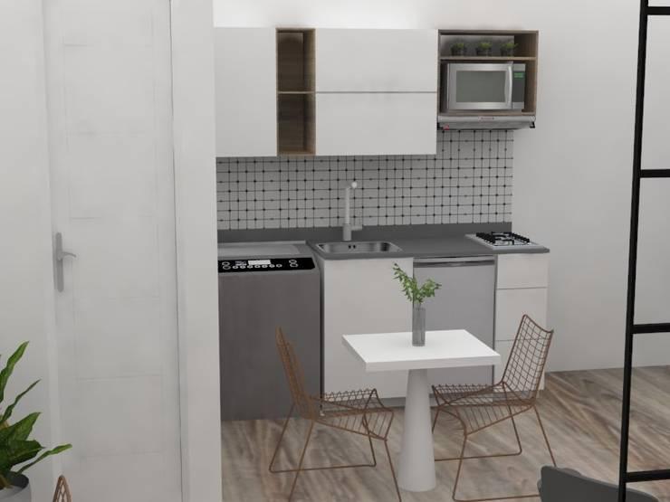 Diseño aparta hotel Medellín:  de estilo  por Decó ambientes a la medida,