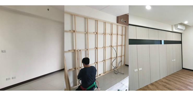 客廳造型牆:   by 業傑室內設計,