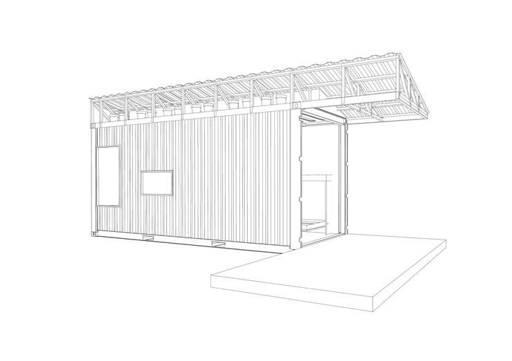 Vista lineal: Casas prefabricadas de estilo  por Alexander Chivico, Industrial Hierro/Acero
