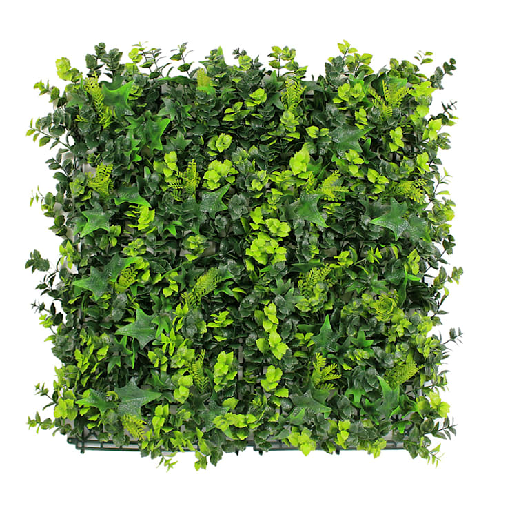 Uland Faux Leaves Fence with English Ivy Bushes A009:  Interior landscaping by Ulandhedge,