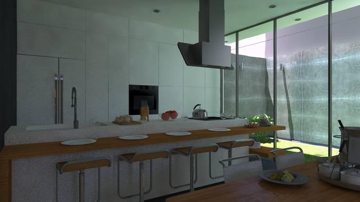 COCINA: Cocinas de estilo  por TECTONICA STUDIO SAC,