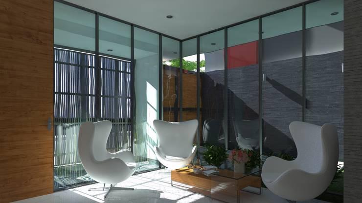 LOBY: Salas / recibidores de estilo  por TECTONICA STUDIO SAC,