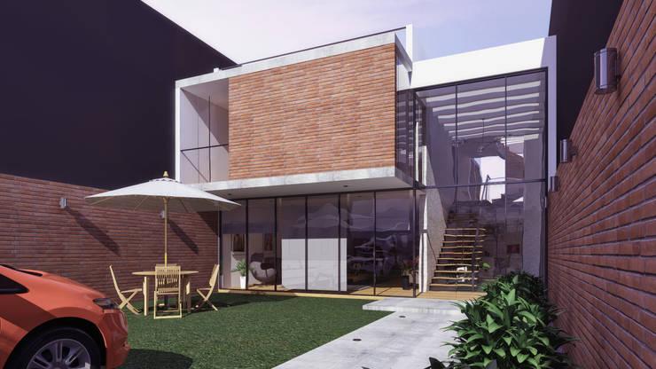 CASA C2: Casas unifamiliares de estilo  por TECTONICA STUDIO SAC,